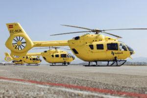Helicopteros de Eliance, todavía luciendo su antiguo nombre de Habock.