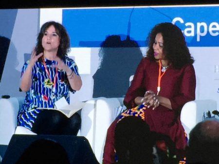Vanessa de Velasco (izquierda) : La visibilidad, la comunicación y los referentes históricos son los objetivos para ir rompiendo barreras.