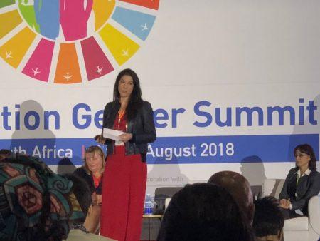 Ana Gómez Pineda presentó a nivel internacional Ellas Vuelan Alto resaltó la misión y el objetivo con el que ha nacido EVA, y las iniciativas que llevará a cabo esta asociación pionera en España.