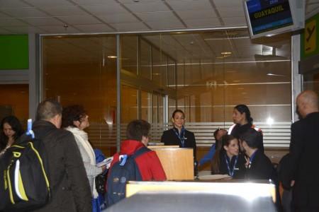 Embarque del primer vuelo de Air Europa entre Madrid y Guayaquil.