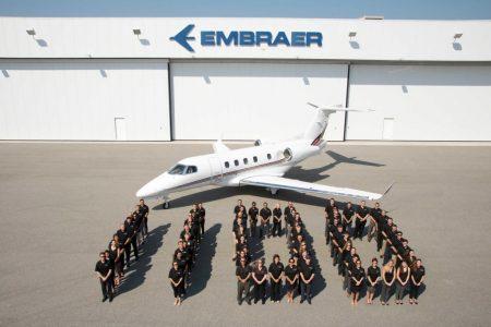Entre las entregas de Embraer en 2017 estuvo su reactor ejecutivo número 1.100, un Phenom 300 para Netjets.