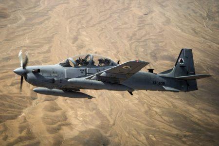 El A-29 Super Tucano es una versión monoplaza y armada del entrenador Embraer 312 Tucano.