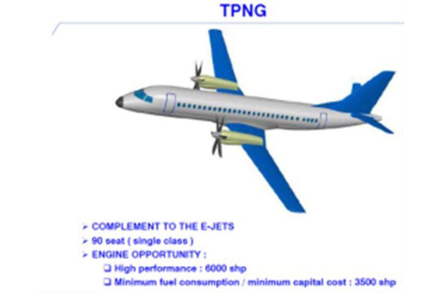 Una de las primeras imágenes que Embraer presentó del nuevo turbohélice.