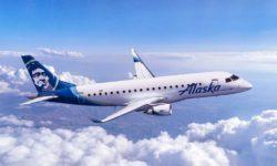 Embraer E175 con  los colores de Alaska Horizon