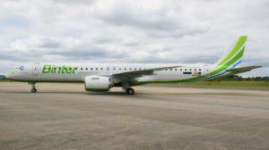 El primero de tres E195-E2 entregados en 2019 por Embraer a Binter Canarias.