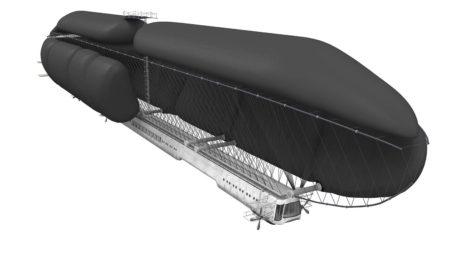 Recreación en 3D realizada para el documental sobre Emilio Herrera del dirigible que diseñó.
