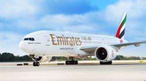 Beoing 777-200LR con el que Emirates volará a México..