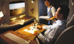 Asiento de primera clase del B-777 de Emirates