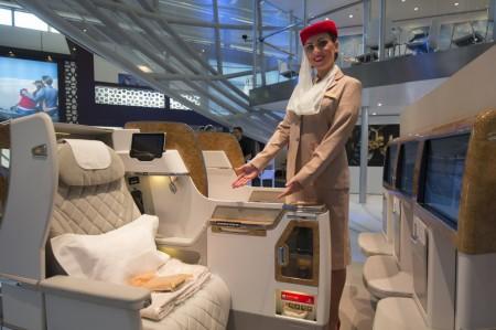 Emirates ha presentado su nuevo asiento de clase business para los Boeing 777 en la Feria de Turismo de Berlín (ITB).
