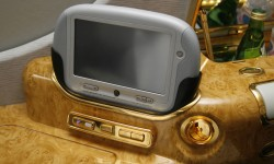 Detalles dorados definen las cabinas de primera clase.