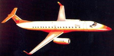 Diseño original del Embraer ERJ145.