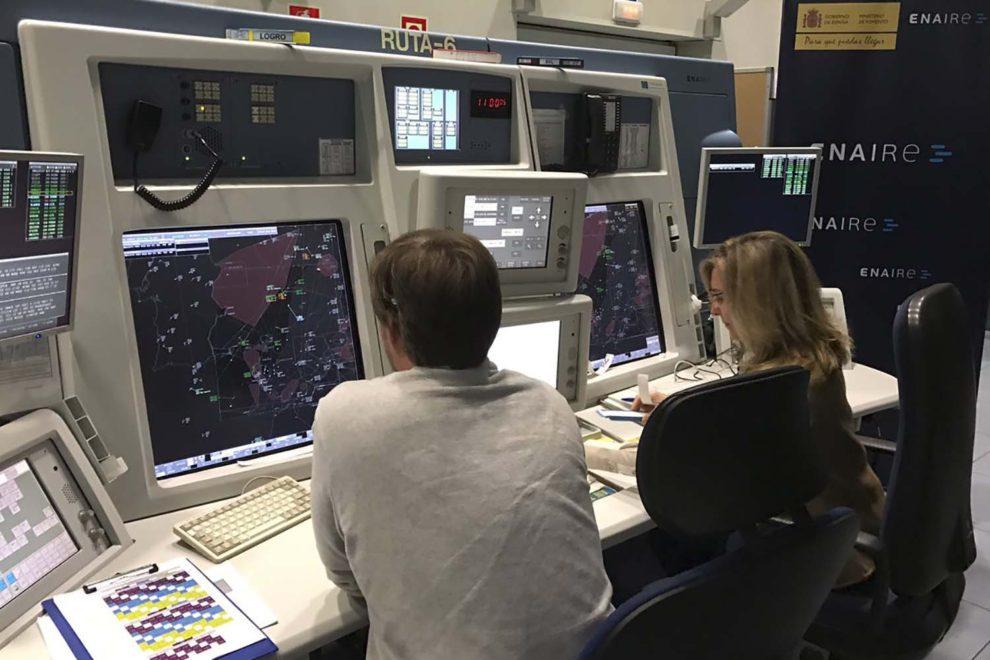 Centro de control aéreo de Enaire.