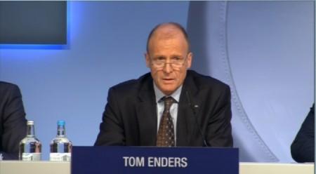 Tom Enders, consejero delegado de Airbus Group durante la rueda de prensa de presentación de resultados en Londres.