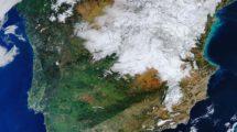 España vista desde el Espacio tras Filomena.c