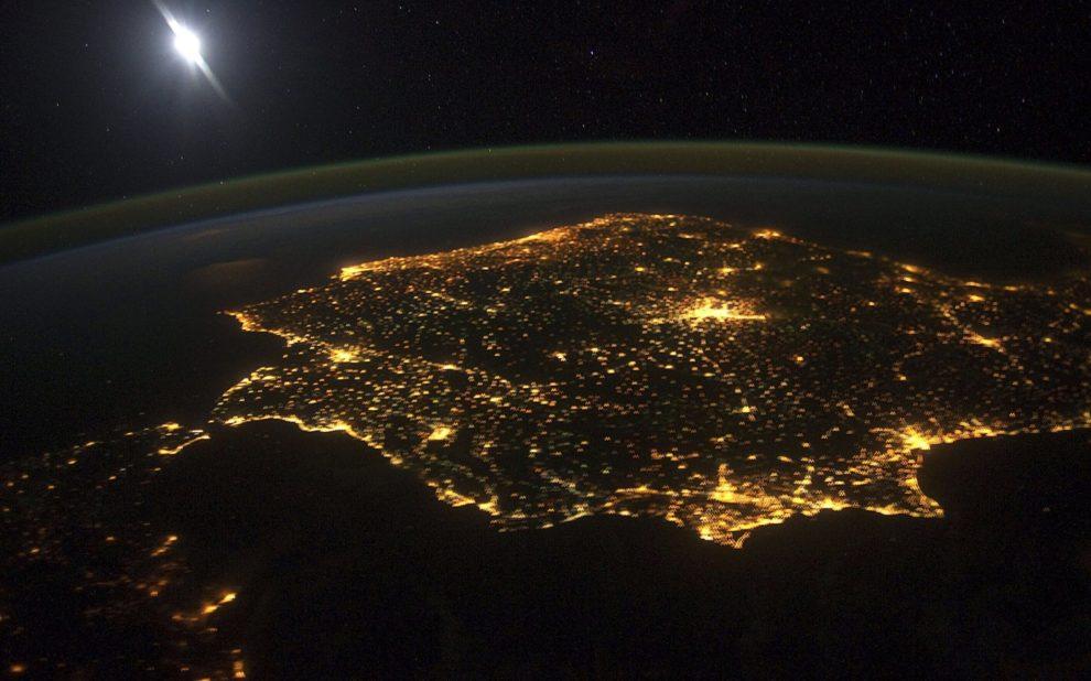 España desde el espacio.