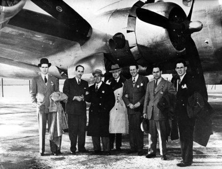 La delegación española que estuvo presente en las reuniones en Chicago en 1944.
