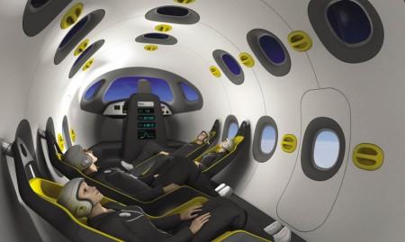 Interior de avión espacial diseñado por Astrium