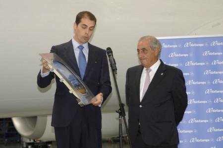 Fernando Esteban de Boeing y Juan José Hidalgo de Air Europa.