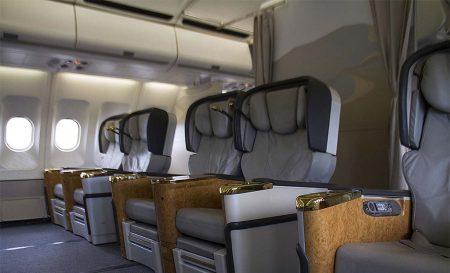 Asientos de primera clase en el A340 de Estelar.