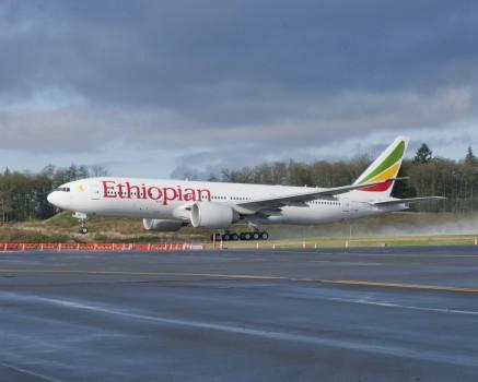 Ethiopian Airlines recibió su primer Boeing 777 en 2010.