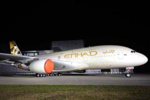 Airbus A380 de Etihad.