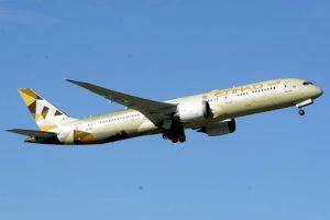 Boeing 787 de Etihad con el que vuela a Madrid.
