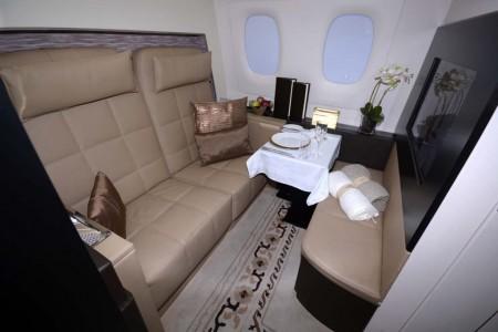 La zona de asientos de The Residence. Por el mismo precio se puede viajar solo o acompañado por una segunda persona.