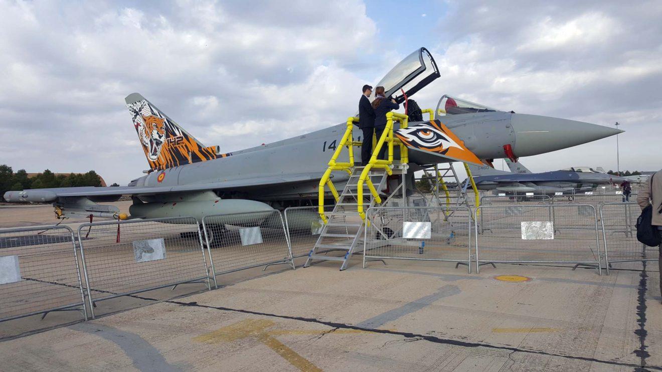 El Eurofighter Tigre era la gran sorpresa del Ala 14 para la jornada.