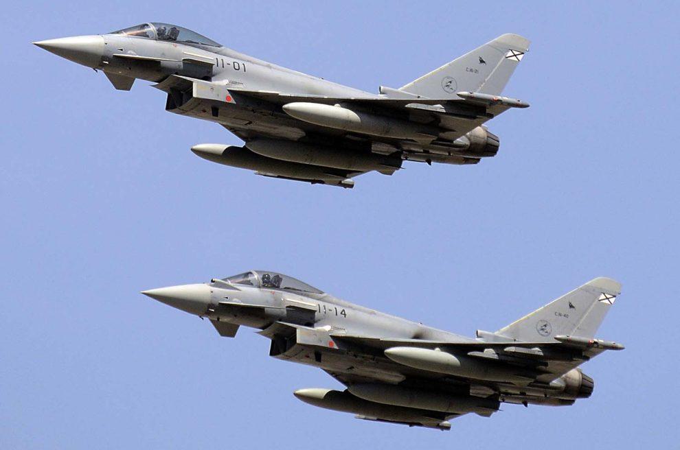 """La modernización de los Eurofighter españoles busca que """"puedan competir en igualdad de condiciones con los de Reino Unido, Italia y Alemania·."""