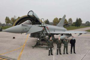 Entrega del último Eurofighter de Italia.q