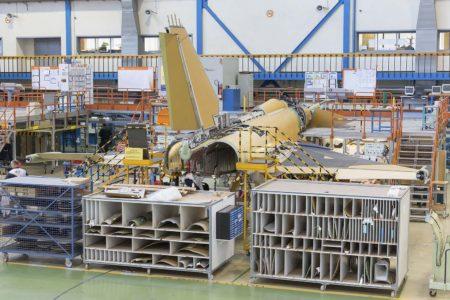 La cadena de montaje en Getafe del Eurofighter se está transformando para la modernización de los aviones españoles.
