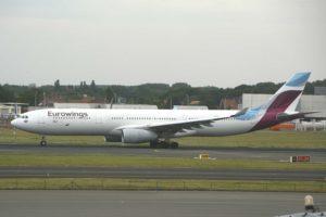 Airbus A330 de Eurowings operando para Brussels Airlines, otra aerolínea del Grupo Lufthansa.