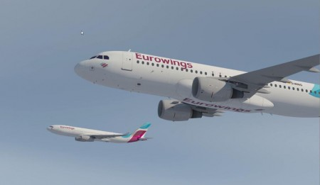 Airbus A320 y A330 con colores de Eurowings