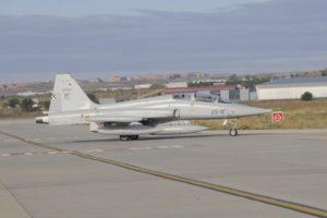 El Ejército del Aire llegó a tener 34 F-5B de entrenamiento. Hoy restan una veintena en servicio.