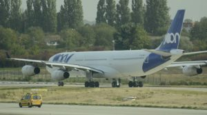 Los Airbus A340-300 de Joon como el de la foto iban a ser sustituidos por Airbus A350.