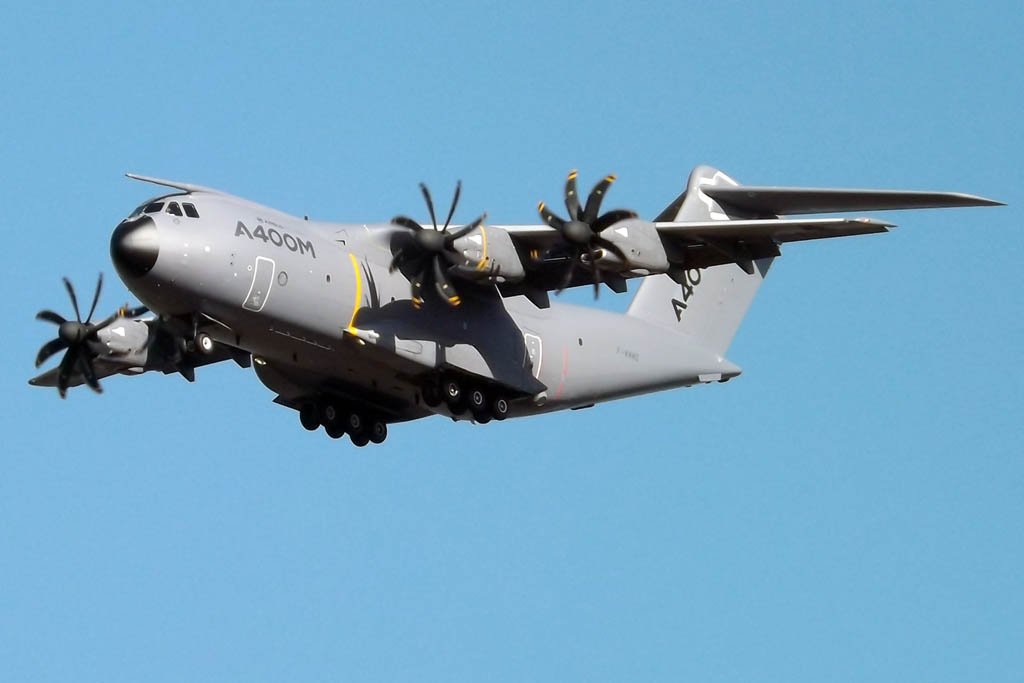 El A400M F-WWMZ será el avión que estará presente en el salón de Le Bourget de este año.