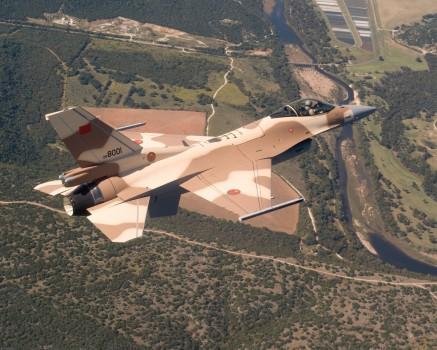 F-16C de la Fuerza Aérea de Marruecos