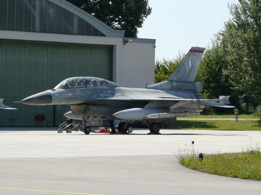 Lockheed Martin F-16DJ de la Fuerza Aérea de Grecia accidentado en Albacete.