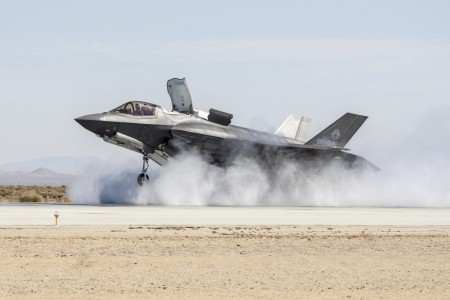 Pruebas de viento cruzado del F-35B