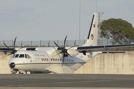 El segundo de los C295 filipinos en Sevilla poco antes de su entrega.