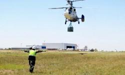 Entrenamiento de carga externa con Ka-32 en las instalaciones de FAASA.