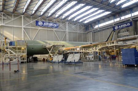 Airbus A330 en la cadena final de montaje en Toulouse.