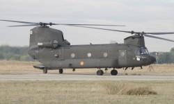 El más nuevo de los Boeing CH-47 de FAMET es el que desfilará
