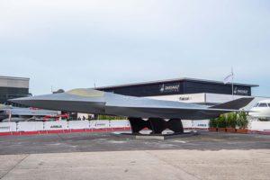 Modelo del FCAS presentado en Le Bourget por Airbus y Dassault.