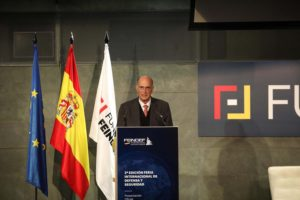Julain García vargas, presidente de la Fundación FEINDEF durante la presentación de la feria.
