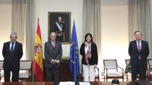 De izquierda a derecha, Gerardo Sánchez Revenga, Julián García Vargas, Esperanza Casteleiro y Ricardo Martí Fluxá.