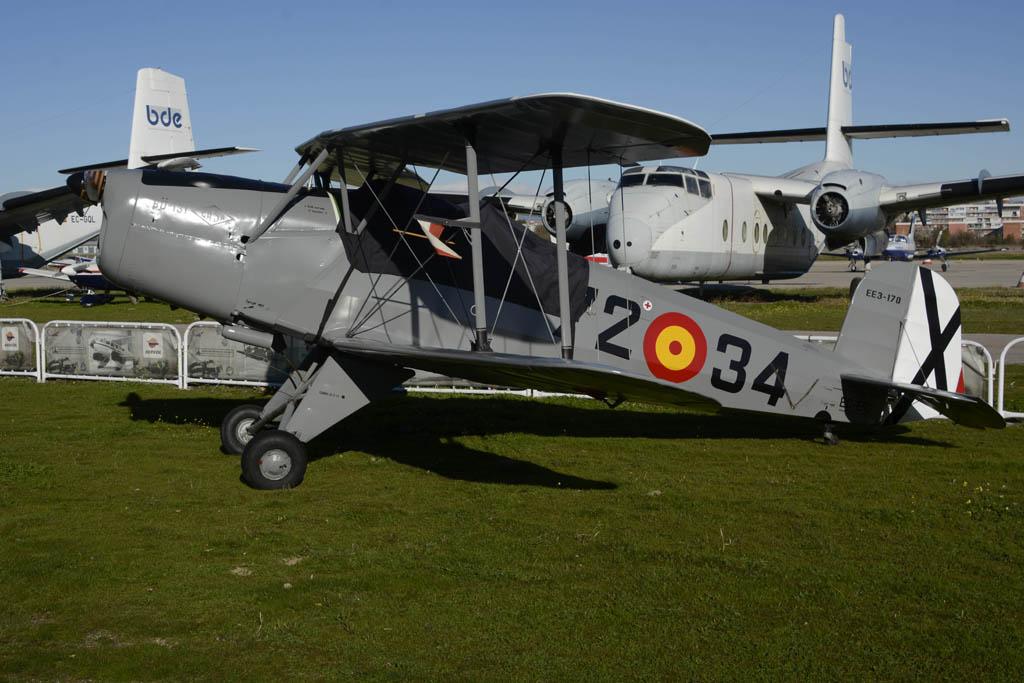 """Una de las """"Bucker 131"""", realmente CASA 1131, de la FIO. Hoy sólo ha podido volar una de ellas."""