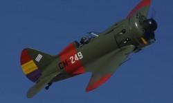 Carlos Valle a los mandos del Polikarpov I-16. Quizás el avión más difícil de volar de la colección de la Fundación Infante de Orleans