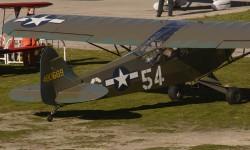 Tras muchos años decorado de amarillo, el Piper J-3C de la FIO, construido en 1944, vuelve a lucir sus colores originales de la USAF.