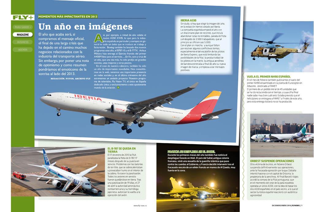 La aviación comercial ha dominado las noticias de 2013.